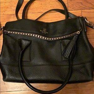 Kate spade black leather bag